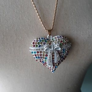 Betsey Johnson colorful heart necklace